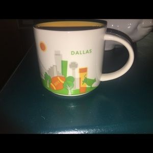 """Starbucks """"you are here"""" Dallas cup 14 ounces"""